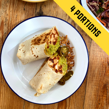 Load image into Gallery viewer, Mexican Chicken & Chipotle Bean Burrito (4 portions)