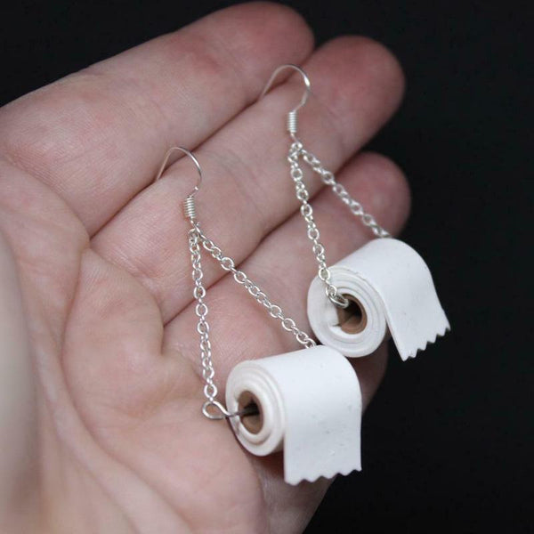 Sterling Silver Toilet Paper Earrings 2020 Best Gift(Buy 4 pieces free shipping)
