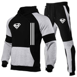 Superman men's fashion stitching track suit