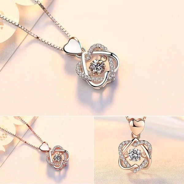 (CHRISTMAS PRE-SALE!) 18K GOLD HEART NECKLACE SET WITH ROSE {Buy 2 free shipping}