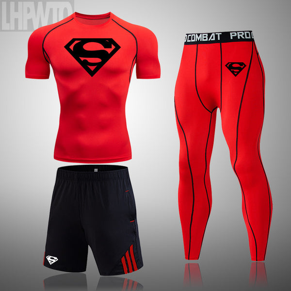Men's New Compression Style Quick-Dry Fitness Running Sports Set