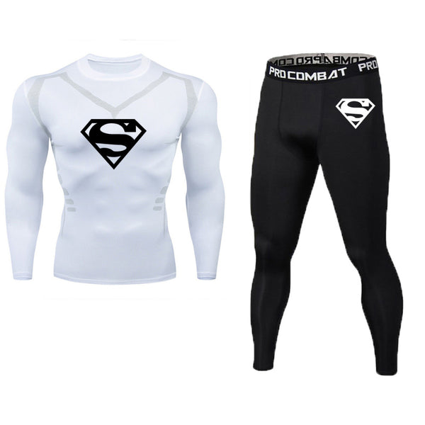 Superman men's tight waist elastic muscle suit