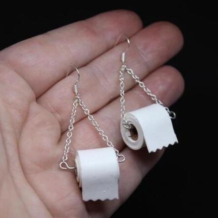 Sterling Silver Toilet Paper Earrings 2021 Best Gift(Buy 4 pieces free shipping)