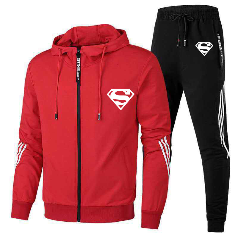 Men's Superman sports and leisure suit