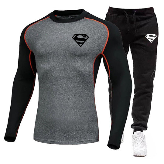 Superman Racing Sports Fashion Autumn And Winter Suit
