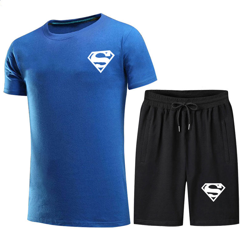 2021 Summer Cotton Men's Short-Sleeved Solid Color T-shirt Sports