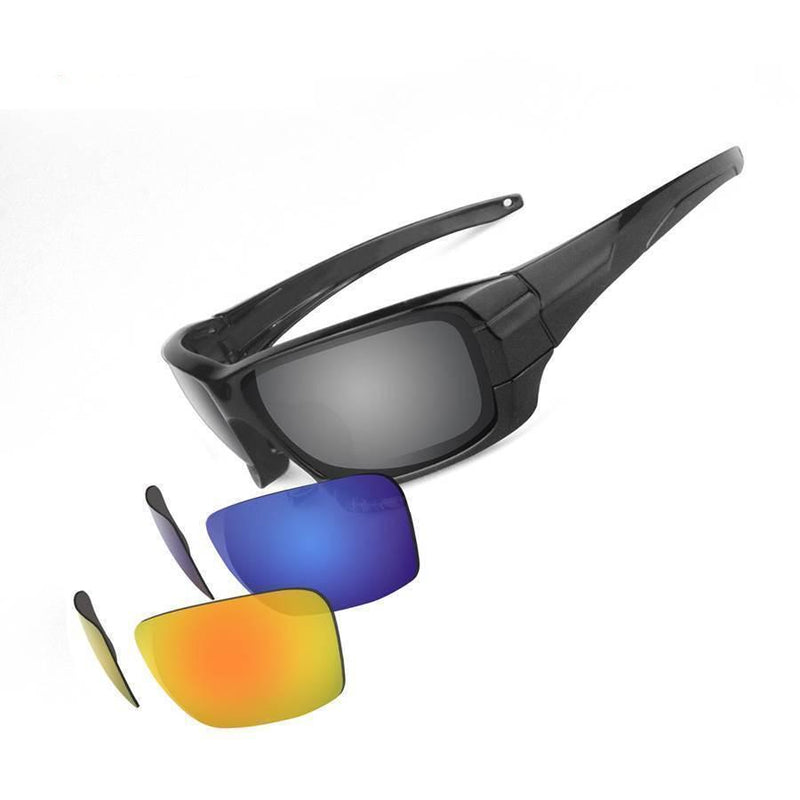 Grizzly Fishing Black / 3 Pack (Grey,Blue,Sunrise) Grizzly Fishing Pro Sunglasses Kit