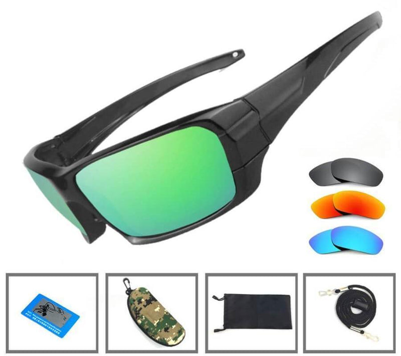 Grizzly Fishing Black / 4 Pack (Green,Blue,Sunrise,Grey) Grizzly Fishing Pro Sunglasses Kit