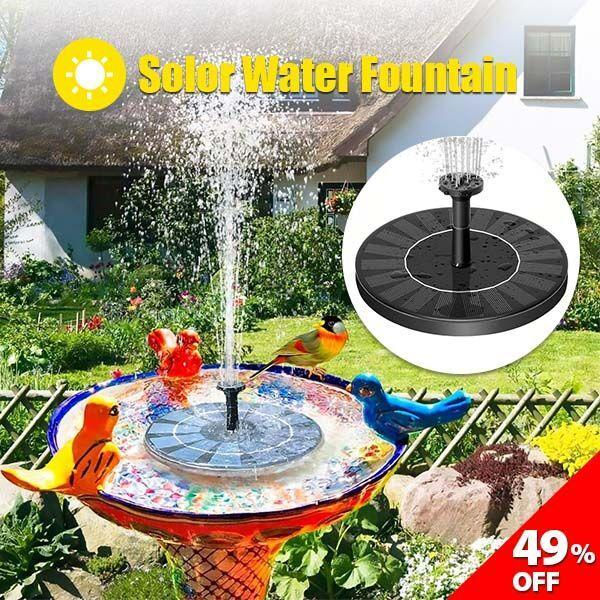 Solar Powered Fountain-Free-Standing Floating Solar Powered Water Bubbler Pump