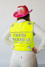 Load image into Gallery viewer, Covid Marshal Yellow Hi Vis Cycling Vest