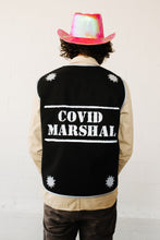 Load image into Gallery viewer, Covid Marshal Long Black Reflective Vest