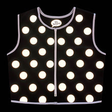 Load image into Gallery viewer, Black Polka Dot Reflective Vest - Cotton Drill