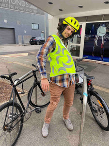 Long Cool Bananas Reflective Bike Vest.