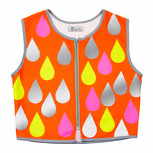 Load image into Gallery viewer, Raindrops High Visibility Biker Vest. Size 6