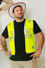 Load image into Gallery viewer, Covid Marshal Long Fluro Yellow Reflect'o Vest