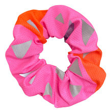 Load image into Gallery viewer, Pink Triangle Reflective Scrunchy