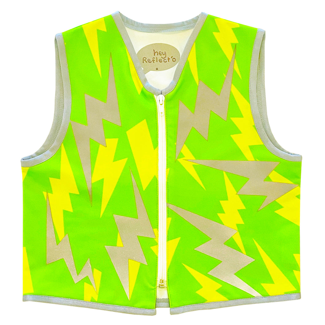 Eco Green Lightning Vest for Kid. Size 2