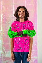 Load image into Gallery viewer, Pink Spatter HIVIS Reflective T Shirt - Short Sleeved / Long Sleeved