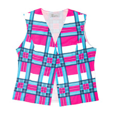 Load image into Gallery viewer, Tartan Pink Cycling Waistcoat. Size 6