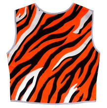 Load image into Gallery viewer, Eye of the Tiger Reflective Vest - Recycled Bottles - Size 10, 12