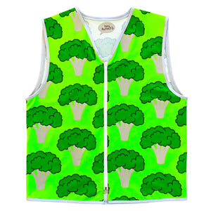 Long Mens Broccoli High Vis Vest Eco