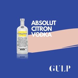 Absolut Citron Vodka - GULP