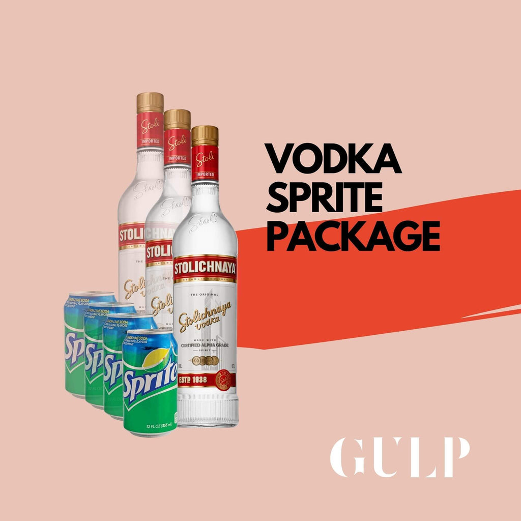 Trio Vodka & Sprite Set - GULP