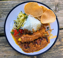 Load image into Gallery viewer, Nasi Kerabu Box Set with Satay Chicken