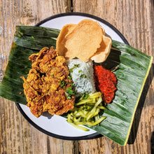 Load image into Gallery viewer, Nasi Kerabu Box Set with Lemongrass Curry Fried Chicken