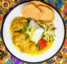 Load image into Gallery viewer, Nasi Kerabu Box Set with Coconut Chicken