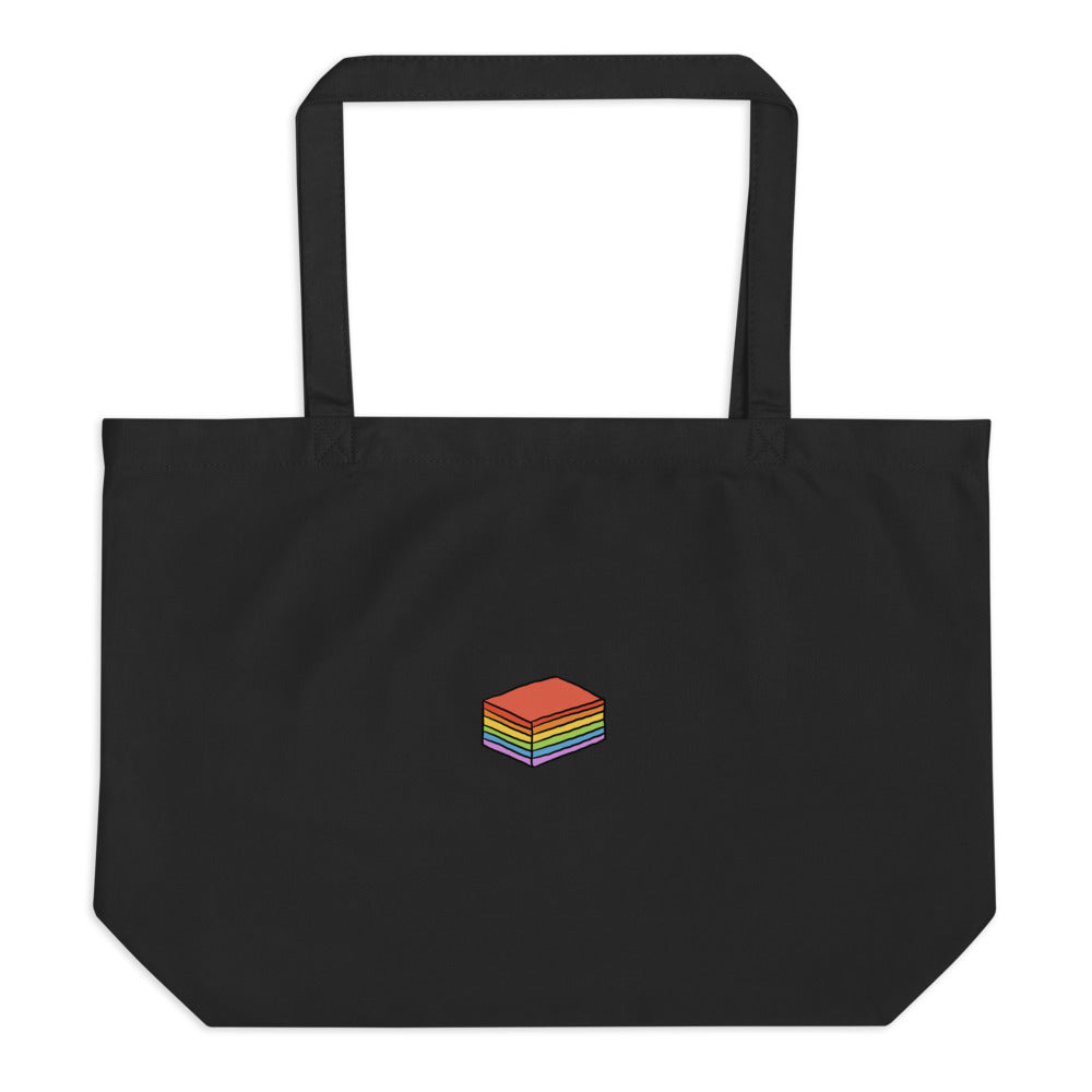 Kuih with Pride Large organic tote bag