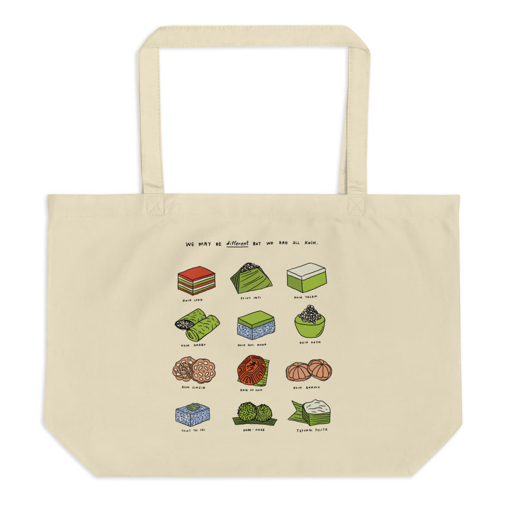 We are all Kuih - Large organic tote bag