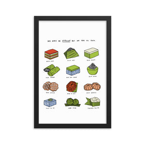 We are all different but we are all Kuih - Framed Prints