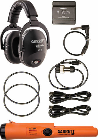 Garrett Z-Lynk™ MS-3 Wireless Headphone Kit With Z-Lynk Pro-Pointer® AT