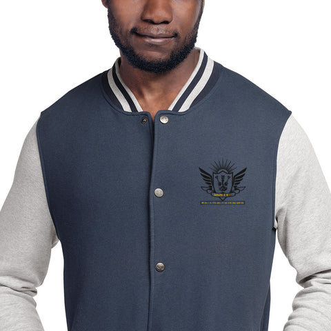 Detector Gadget Embroidered Champion Bomber Jacket