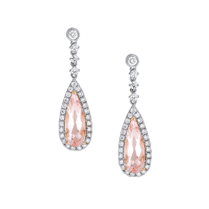 18ct Gold  Morganite  Earrings