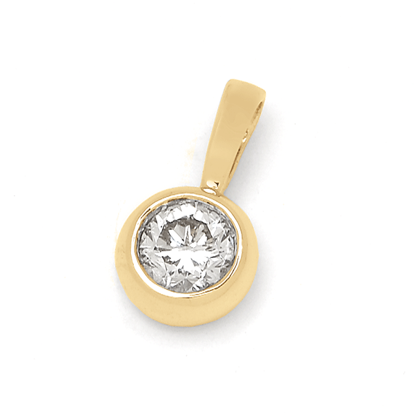 18ct Yellow Gold 0.35ct TDW Diamond Pendant