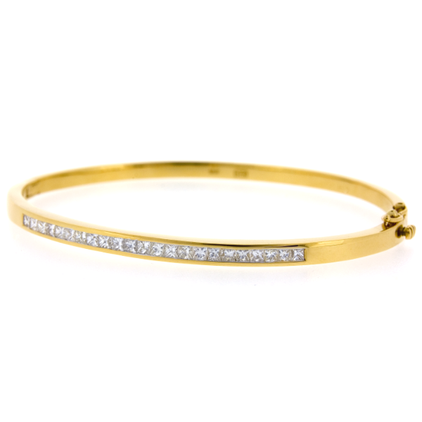 18ct Yellow Gold 0.98ct TDW Diamond Bangles