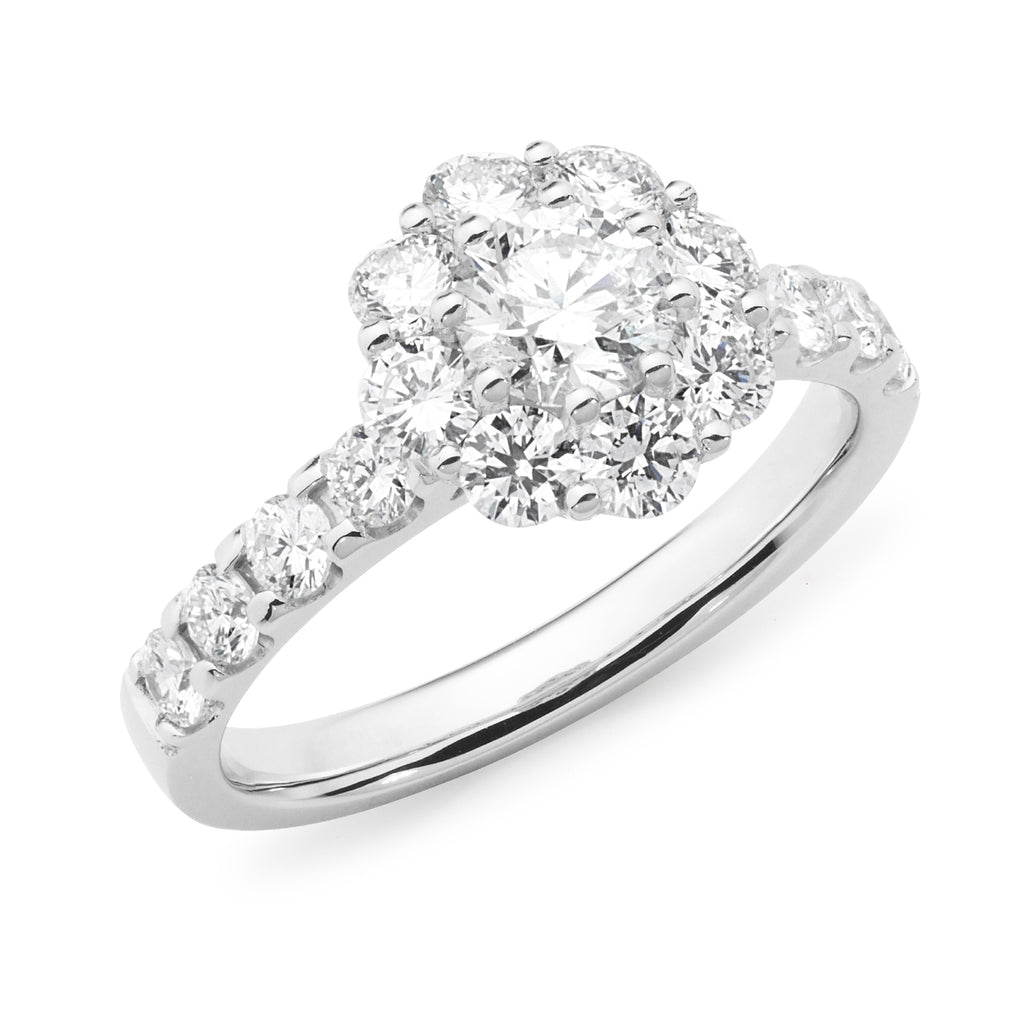 MMJ - Diamond Cluster Engagement Ring
