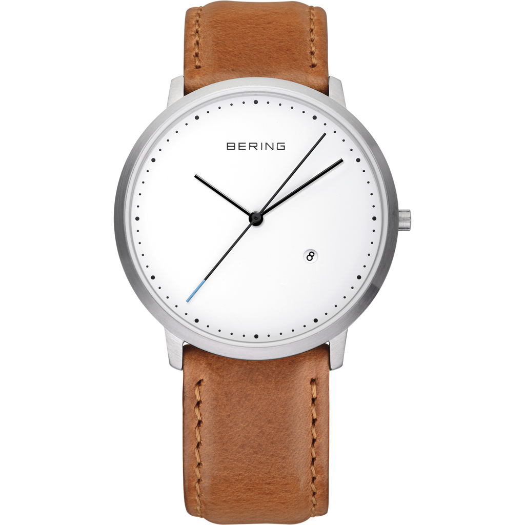 Bering Classic white 39 mm unisex Watch (11139-504)