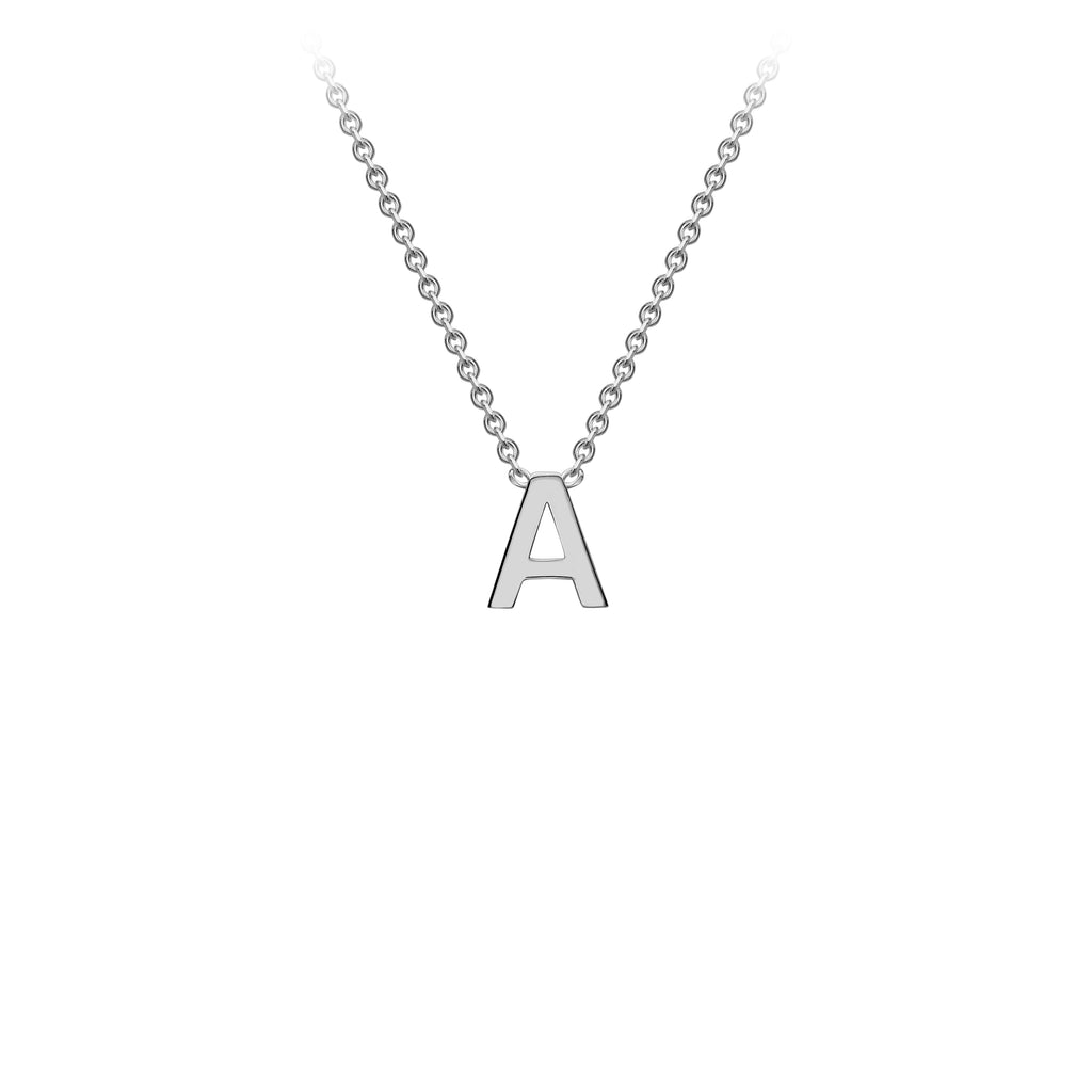 PRE-ORDER 9K White Gold Initial Necklace 38cm/43cm