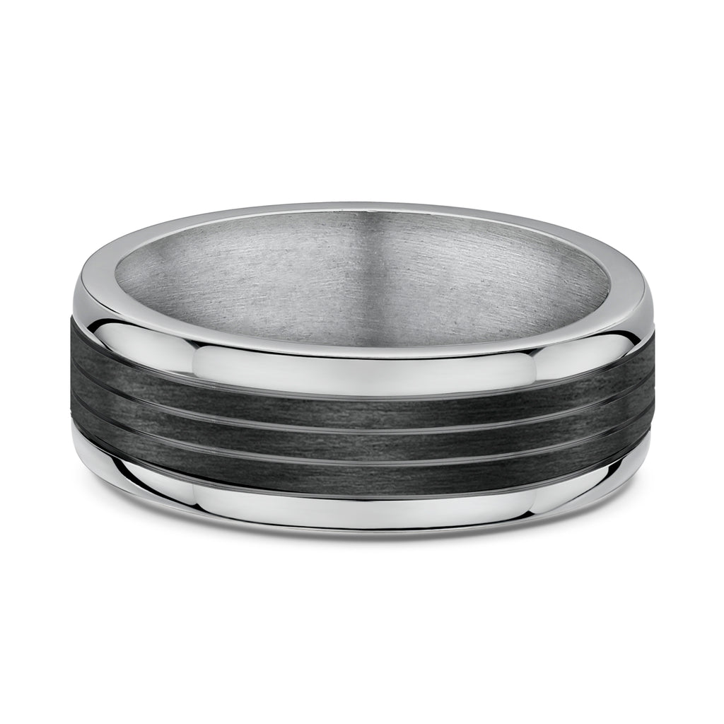 Dora Mens Titanium and Carbon Fibre Ring