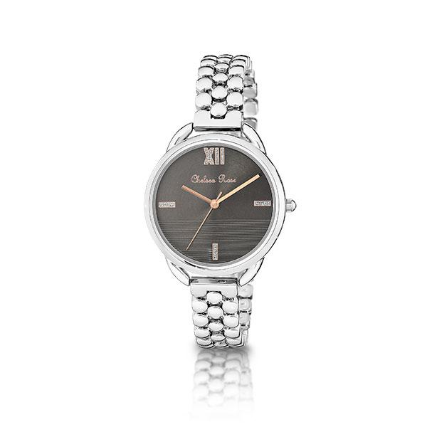 Chelsea Rose Silver Peony Watch