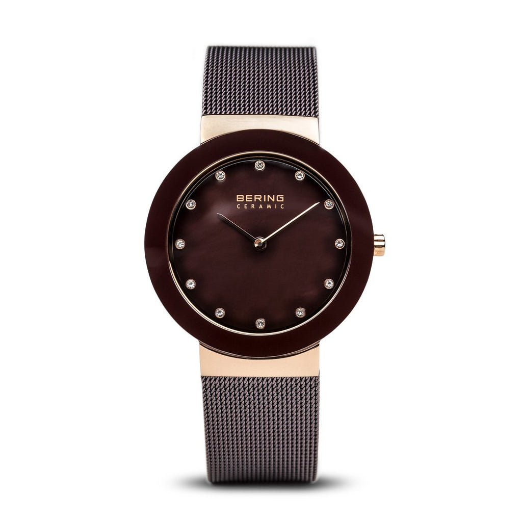 Bering Ceramic Rose Gold 35 mm Women's Watches 11435-262