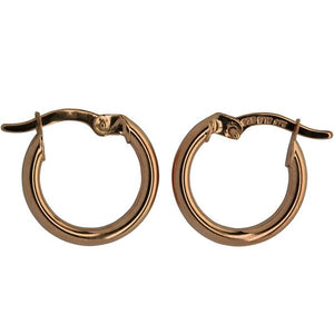 9ct and Silver Bonded Hoop Earrings