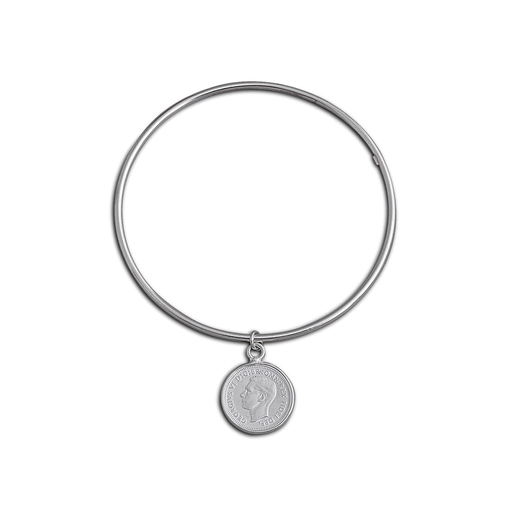 Von Treskow Fine Bangle with Threepence
