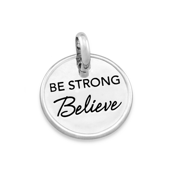 Candid 'Be Strong Believe' Pendant