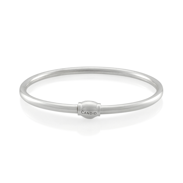 Candid Sterling Silver Oval Bangle