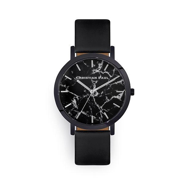 Christian Paul The Strand Marble 43mm Watch Black