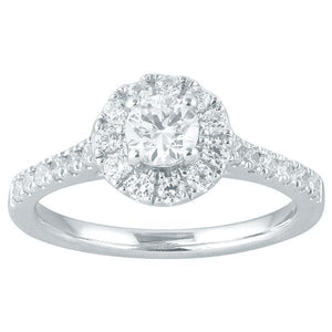 DDS -Semi Mount -18ct I P1 - RBC - WITH HALO & DIAMOND SHOULDERS